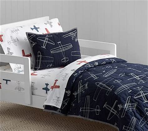 braden airplane toddler quilt pottery barn kids