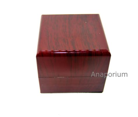 light cherry wood finish cherry wood finish led light ring box white inside