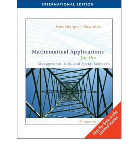mathematical applications for the management and social sciences books mathematical applications for the management and
