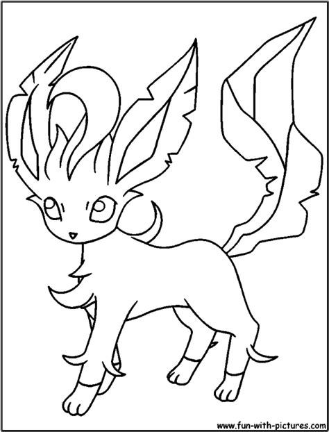 leafeon coloring pages coloring home