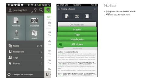 android design patterns android vs iphone differences in ui patterns and design