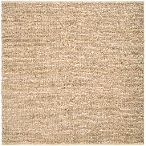 woven beige jawfish fiber jute rug 8 square