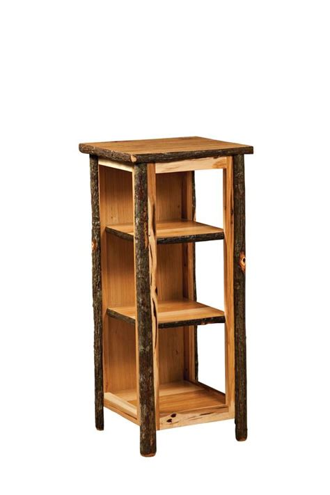 bookcase side table hickory bookcase end table