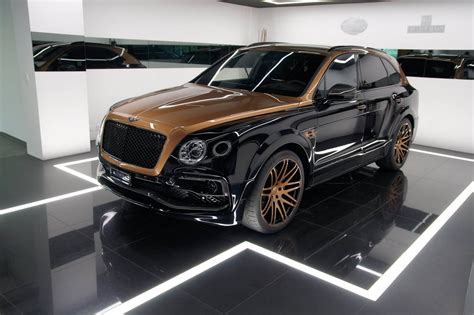bentley startech tuned bentley bentayga in exclusive shadow gold not for