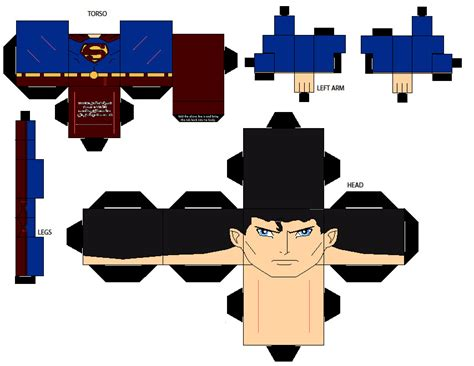 Superman Papercraft - justice superman cubee by natduv on deviantart