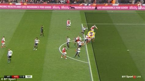 arsenal offside laurent koscielny foul was a penalty for tottenham and