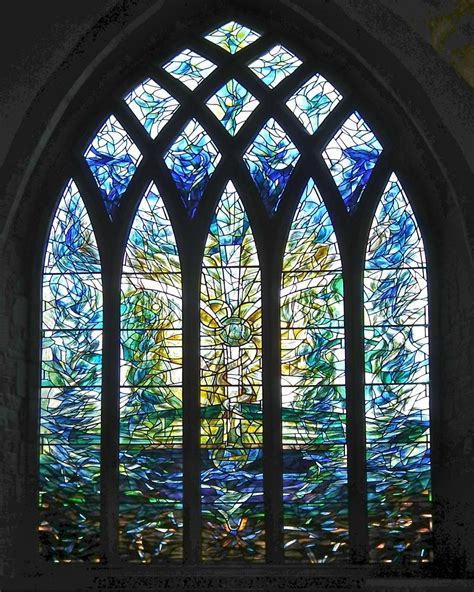 stained glass window stained glass windows in blues free stock photo domain pictures