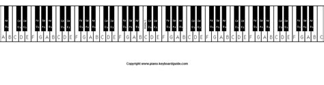 piano key notes how many keys on a piano how many of this how many of that