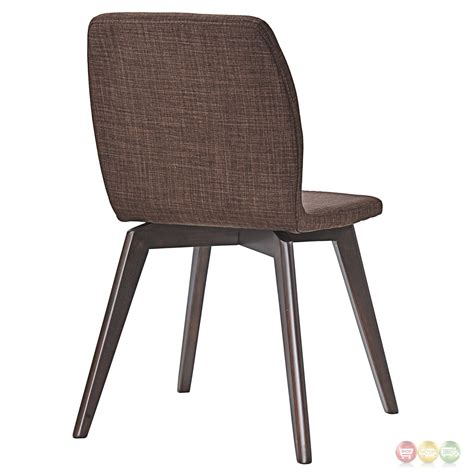 Dining Side Chairs Proclaim Modern Upholstered Wooden Dining Side Chair Walnut Mocha