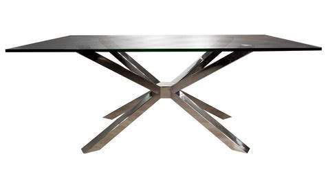 stainless steel table bases dining modern cointet rectangle dining table base stainless