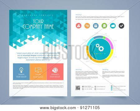 creative two page business flyer template or brochure