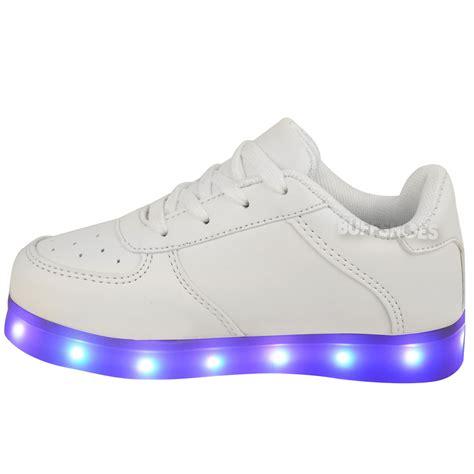 light up shoes size 11 kids girls trainers flashing led luminous lights usb