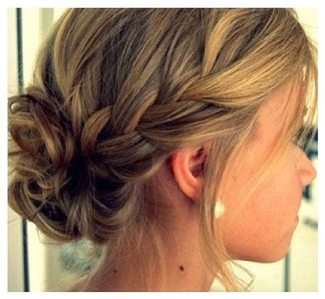 braided hairstyles into a bun braid into a bun hair styles pinterest
