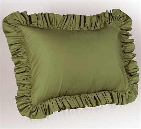 What Are Pillow Shams by Solid Ruffled Pillow Sham Ebay