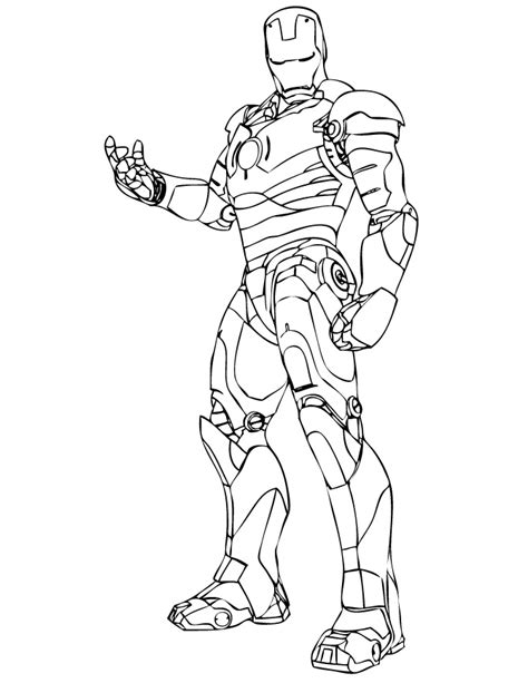 Wonderful Iron Man Coloring Pages For Kids Iron Coloring Pages