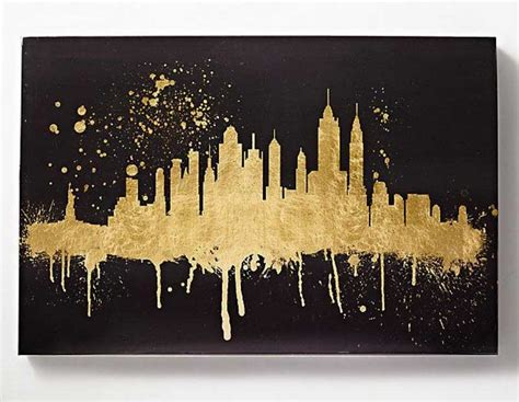 Black Wall Decor Black And Gold Wall Decor Skyline Home Interior