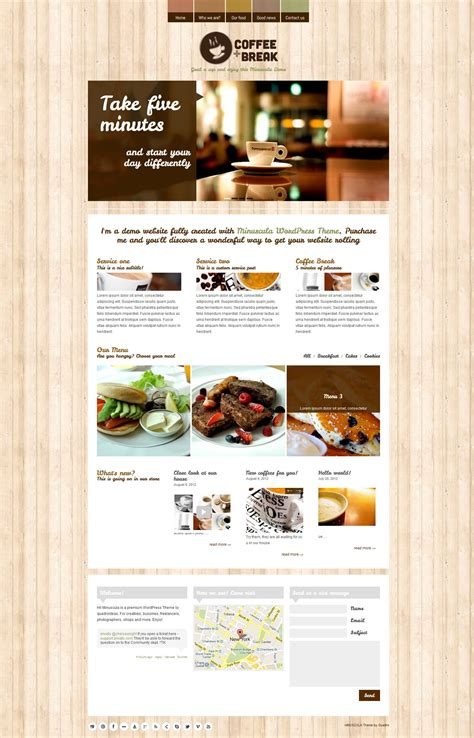 themeforest restaurant coffee break responsive restaurant wordpress template