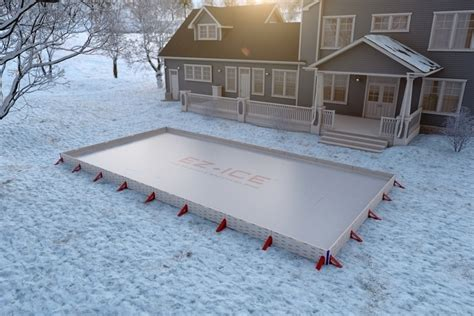 how to build a backyard ice rink ez ice outdoor skating rink
