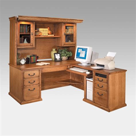 oak desk with hutch oak corner computer desk with hutch popular corner