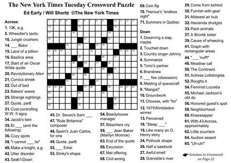 sunday times crossword section the new york times crossword