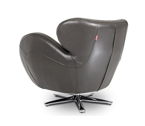 Leather Swivel Lounge Chair Covina Modern Grey Leather Swivel Lounge Chair