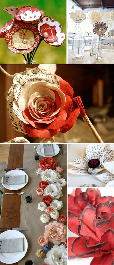 How To Make Vintage Paper Flowers - vintage paper flower ideas weddings by lilly