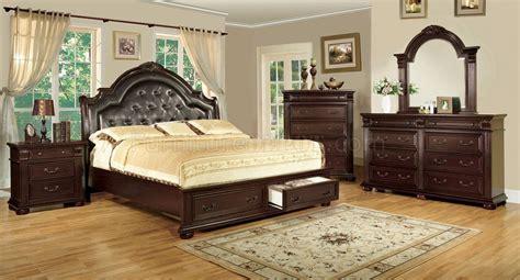 laras de buro vintage cm7162 scottdale bedroom in brown cherry w options