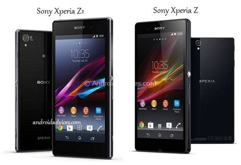 Hp Sony Android Z1 sony xperia z1 vs xperia z android phone comparison of specs features android advices