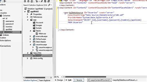 tutorial asp net web forms tutorial asp net web forms mostrar datos de bd en una