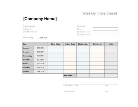 search results for free printable monthly timesheet