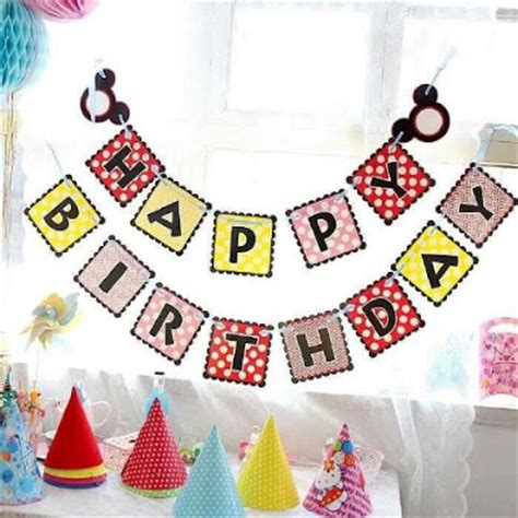 Balon Foil Mickey Balon Kepala Mickey bunting banner happy birthday motif mickey mouse balloon