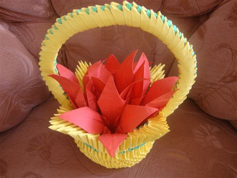 How To Make Origami Flower Basket - flower basket jpg album mindaugas 3d origami