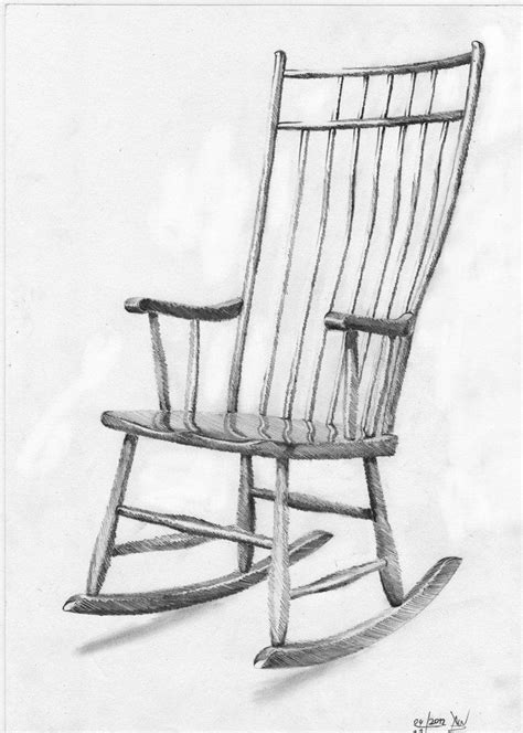 Pencil Sketches Of Chairs Sketch by Rocking Chair Sketch Search Interior Sketch