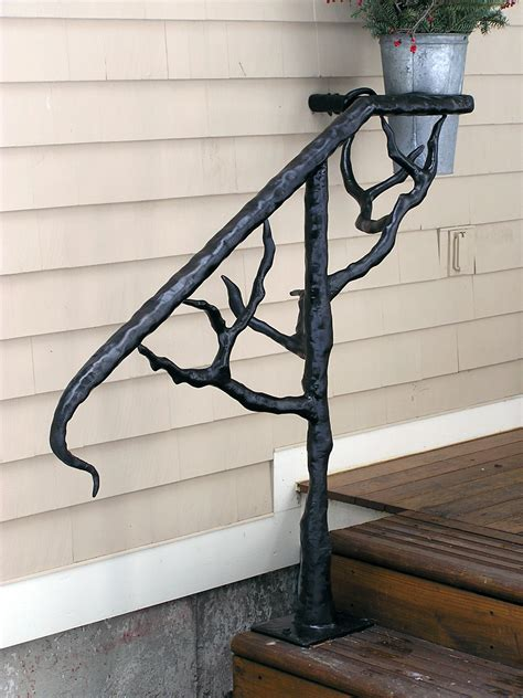 Outside Handrail sleeper ornamental welding outdoor handrails