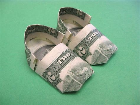 Origami Boot Dollar Bill - details about beautiful money origami pieces many