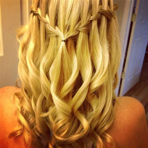 hairstyles for kindergarten graduation curly waterfall braid for miss sassy s kindergarten