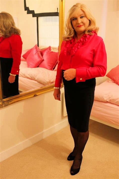 crossdressing make over gallery black skirts and silk blouses
