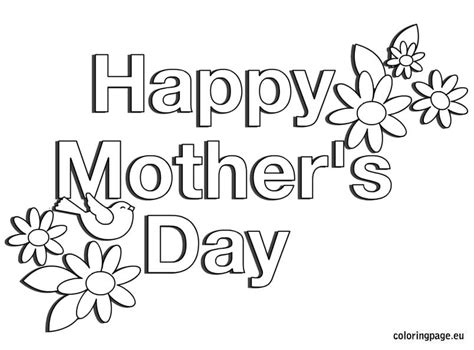 printable mothers day cards to color printable mothers day cards to colour in black and white