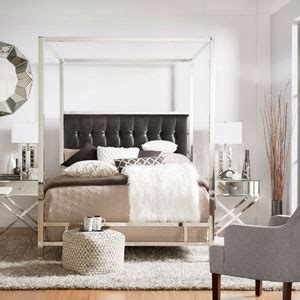 adora white glam gold canopy bed homehills canopy