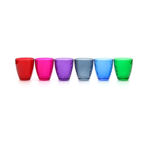bicchieri acqua colorati set bicchieri colorati in vetro 6 pezzi bicchieri