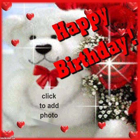 Add Photo In Birthday Cards For Free Happy Birthday Card Click To Add A Photo And Send For