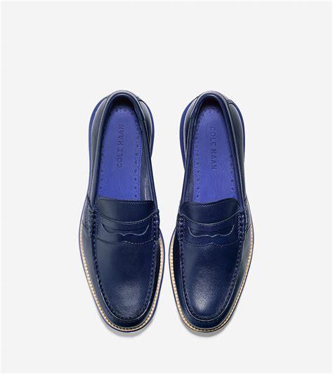 lunargrand loafer cole haan lunargrand loafer in blue for lyst