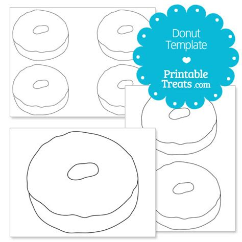 printable template printable donut template printable treats