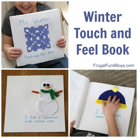touch books make a winter touch and feel book for toddlers and