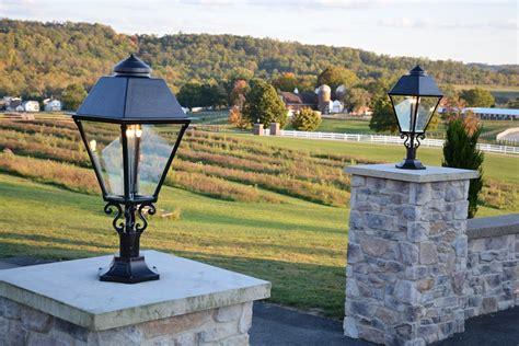 outdoor post mount lights gas l works outdoor gas ls lighting