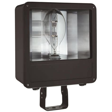 Lithonia Outdoor Lighting Lithonia Lighting Outdoor Metal Halide Bronze Flood Light With Glass Lens And Pulse Start