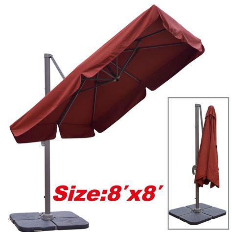 Heavy Duty Patio Umbrella Cantilever Alu Patio Outdoor Spa Pool Side Umbrella 8 X8 Heavy Duty Sunbrella Ebay