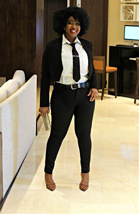 how to wear clipins black women cropped blazer suit tie hypnoz glam