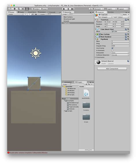 unity force layout update tapcontroller unity3d tutorial honkbark studios
