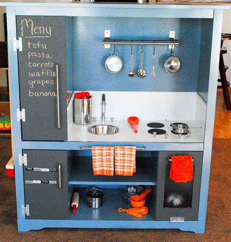 regifter s bible entertainment center turned play kitchen